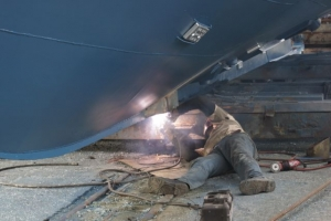 The Pacific Hooker is a regular at our dry dock in the Charleston Shipyard at Giddings Boatworks